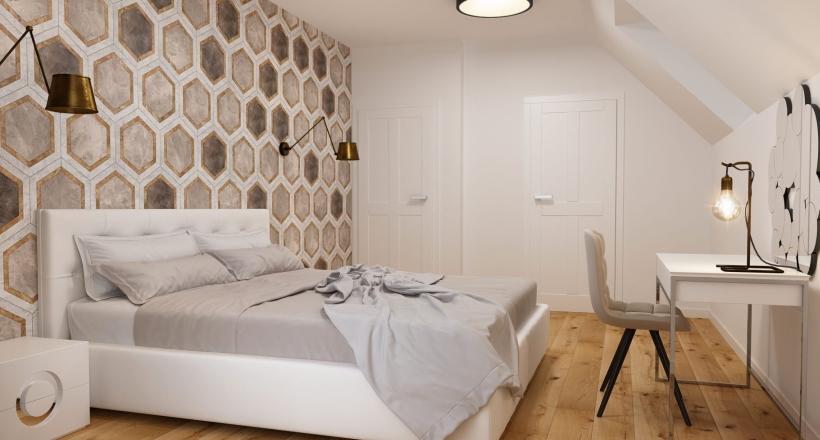krakowska sypialnia autorstwa projektant wnetrz M.Podobinskiej